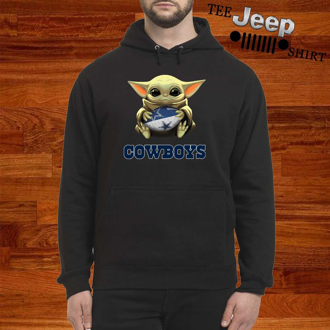Star Wars Baby Yoda Hug Dallas Cowboys Hoodie