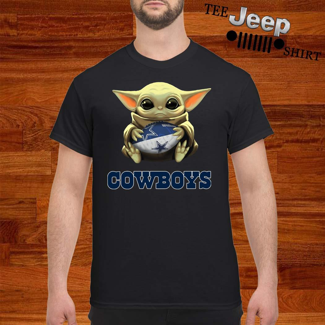 Star Wars Baby Yoda Hug Dallas Cowboys Shirt