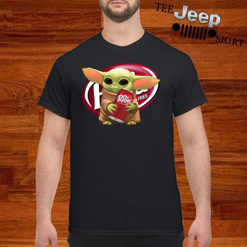 Star Wars Baby Yoda Hug Dr Pepper Shirt