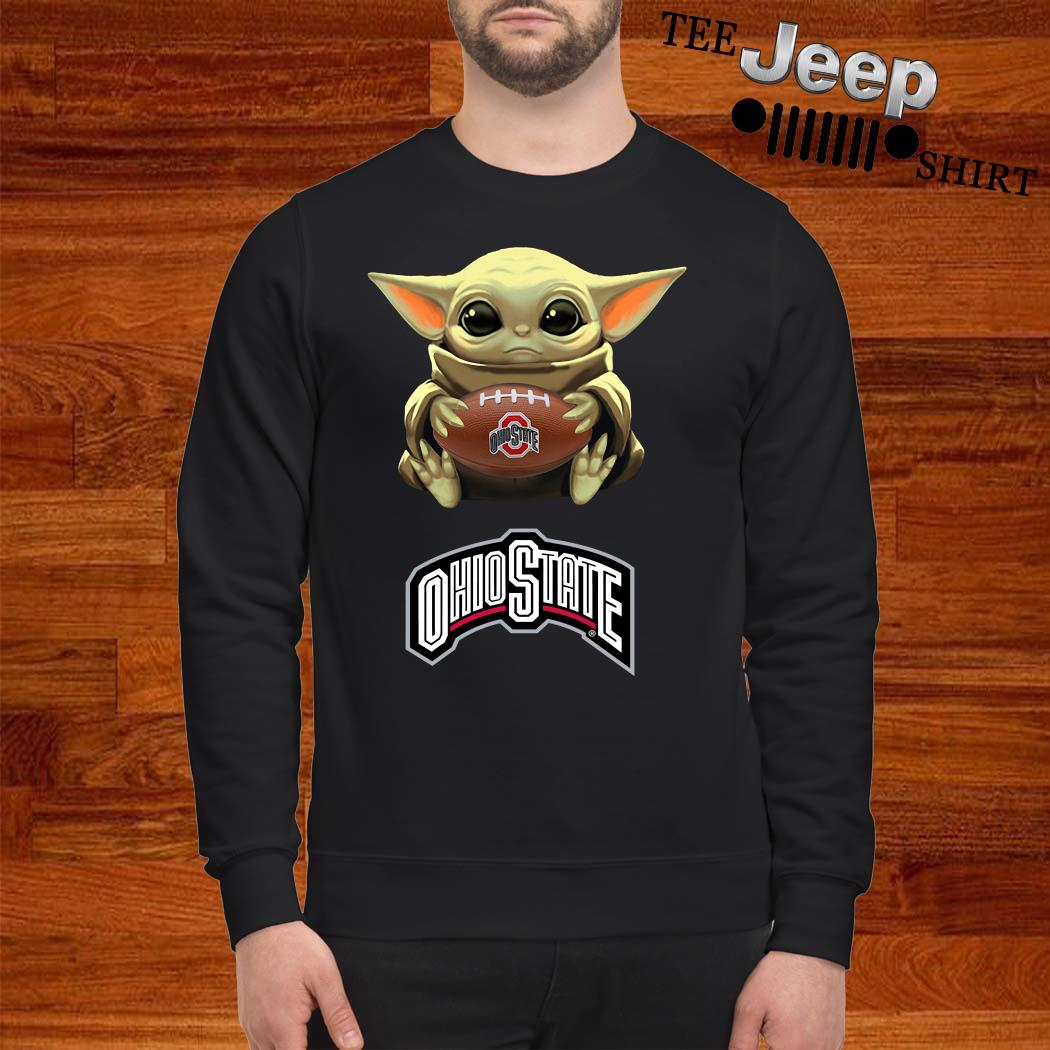 Star Wars Baby Yoda Hug Ohio State Buckeyes Sweatshirt