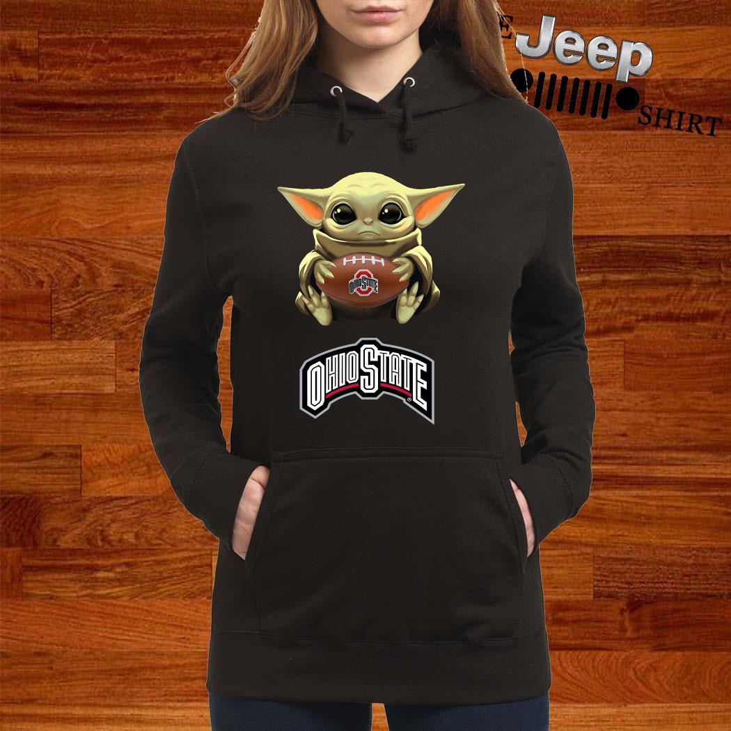 Star Wars Baby Yoda Hug Ohio State Buckeyes Hoodie