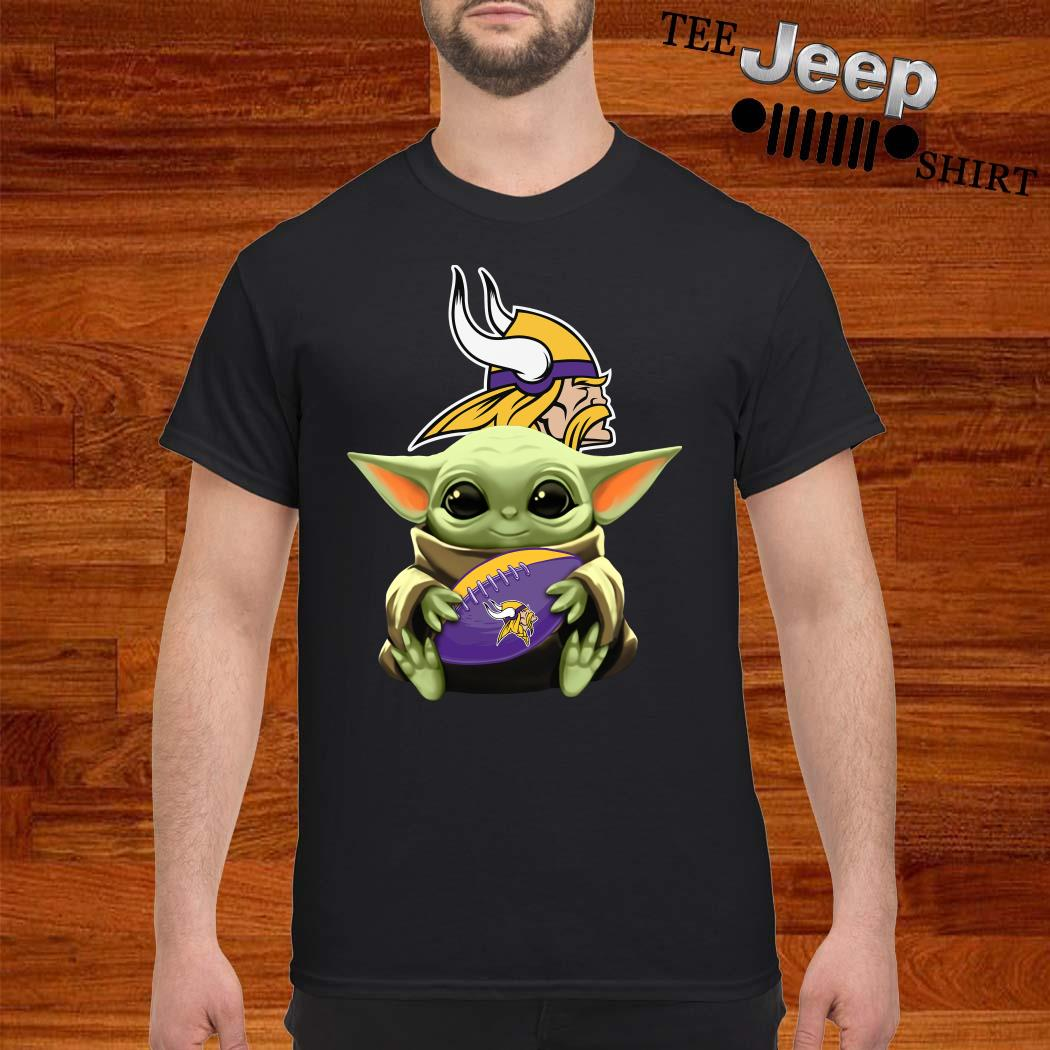Star Wars Baby Yoda Hug Vikings Shirt