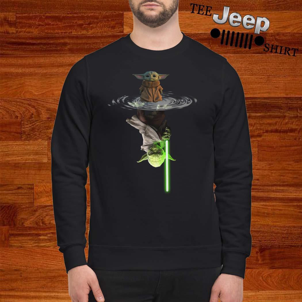 Star Wars Baby Yoda Water Reflection Mirror Yoda Sweatshirt