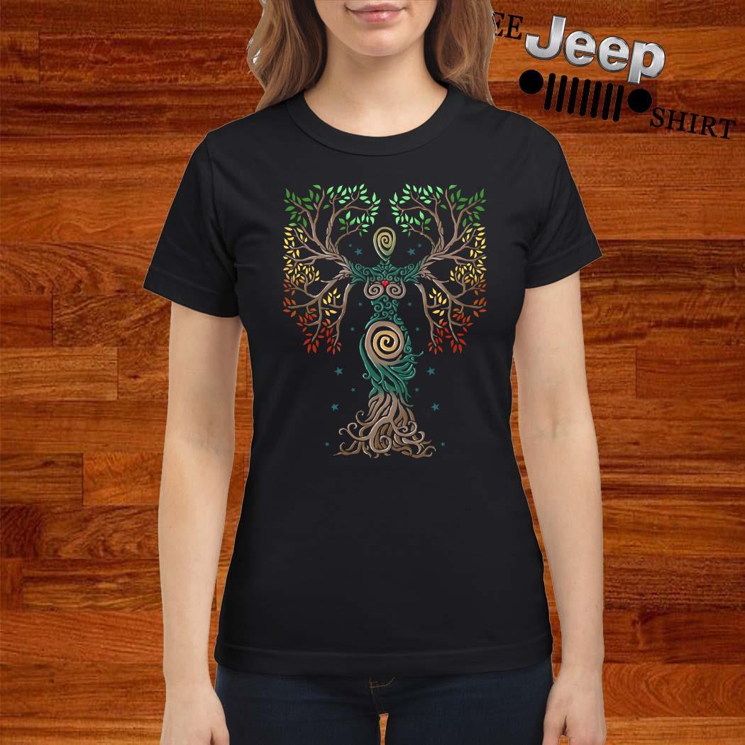 Tree Of Life Spiral Ladies Shirt