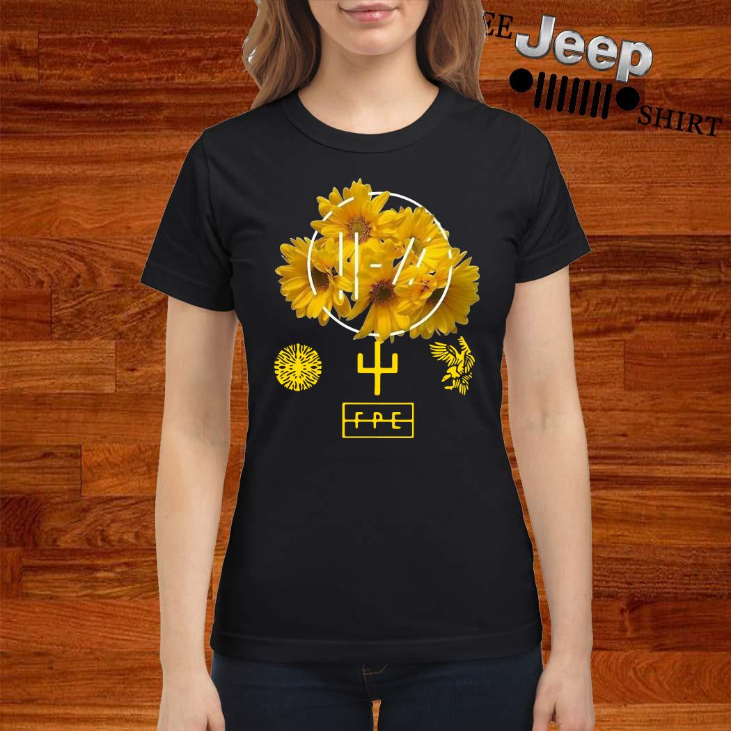 Twenty One Pilots Yellow Flower Ladies Shirt