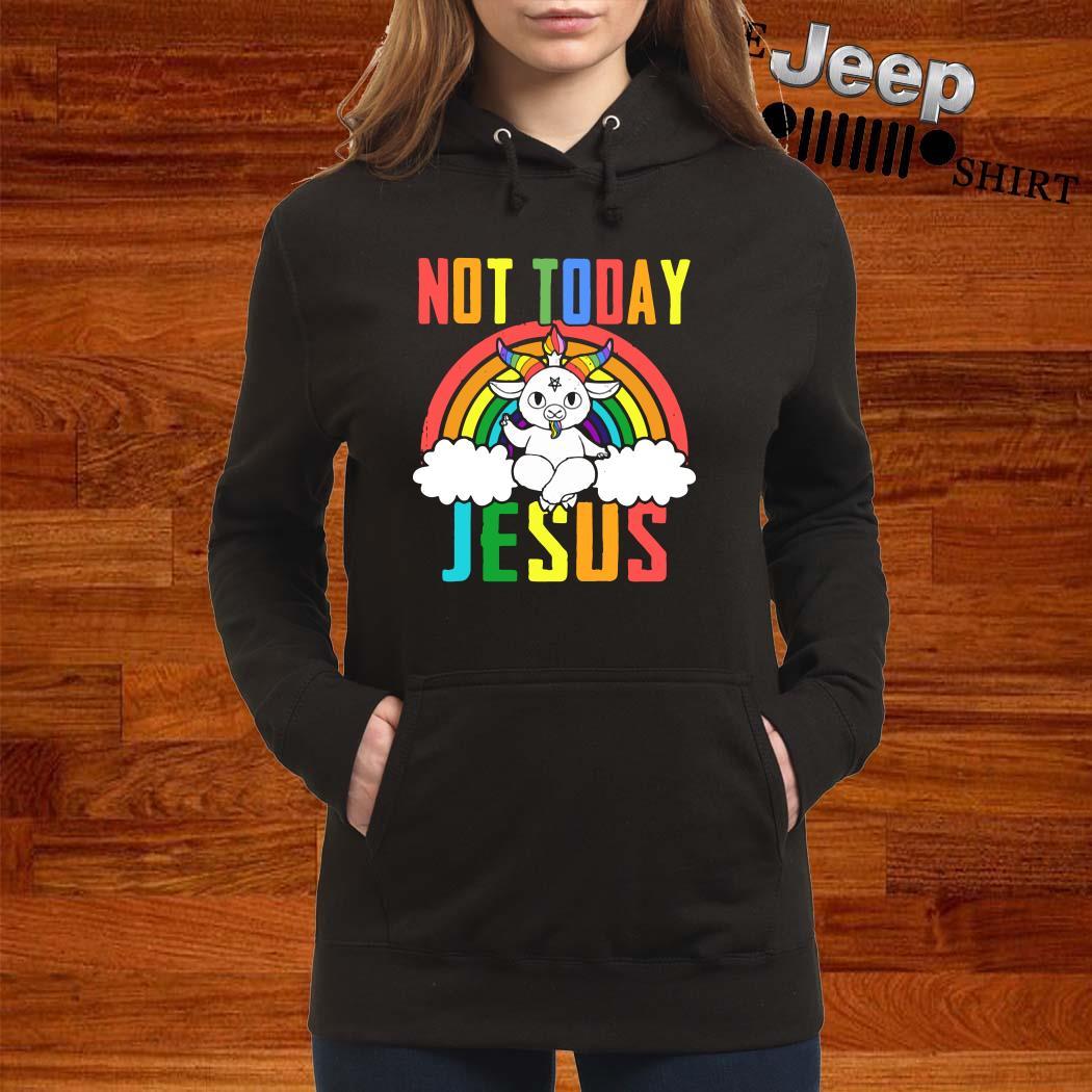 Unicorn Not Today Jesus Hoodie