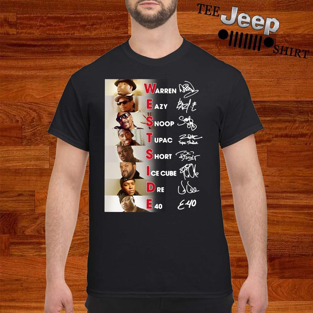 Warren Eazy Snoop Tupac Short Ice Cube Dre E40 Signatures Shirt