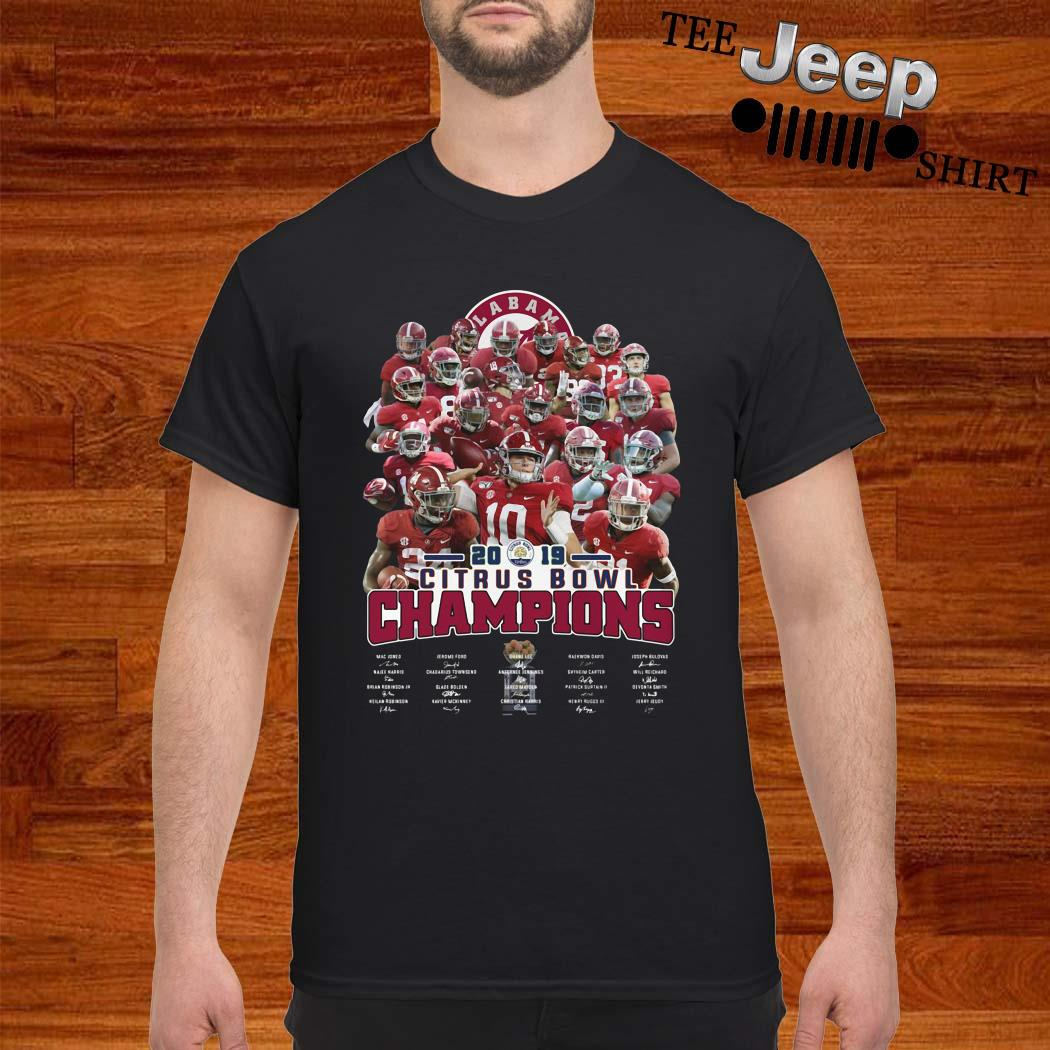 Alabama Crimson Tide 2019 Citrus Bowl Champions Signatures Shirt