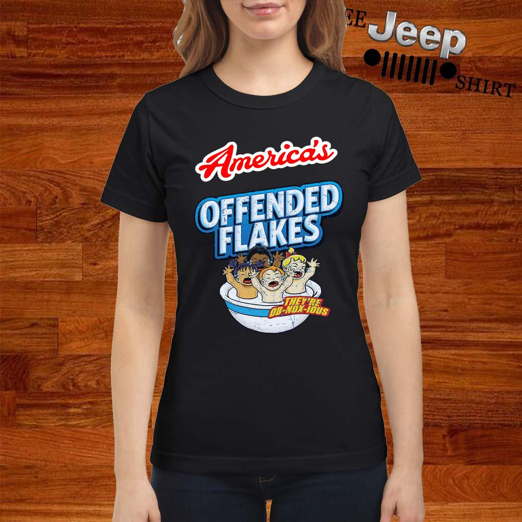 Americas Offended Flakes Ladies Shirt