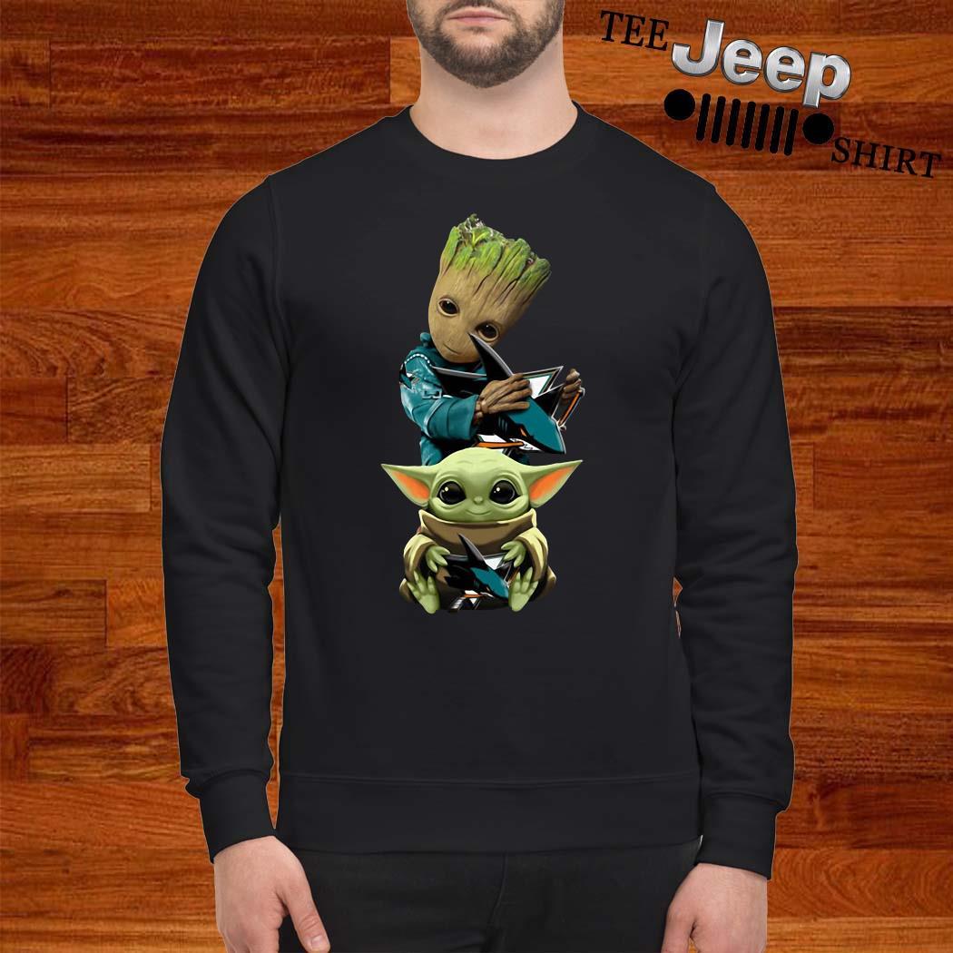Baby Groot And Baby Yoda Hug Philadelphia Flyers Sweatshirt