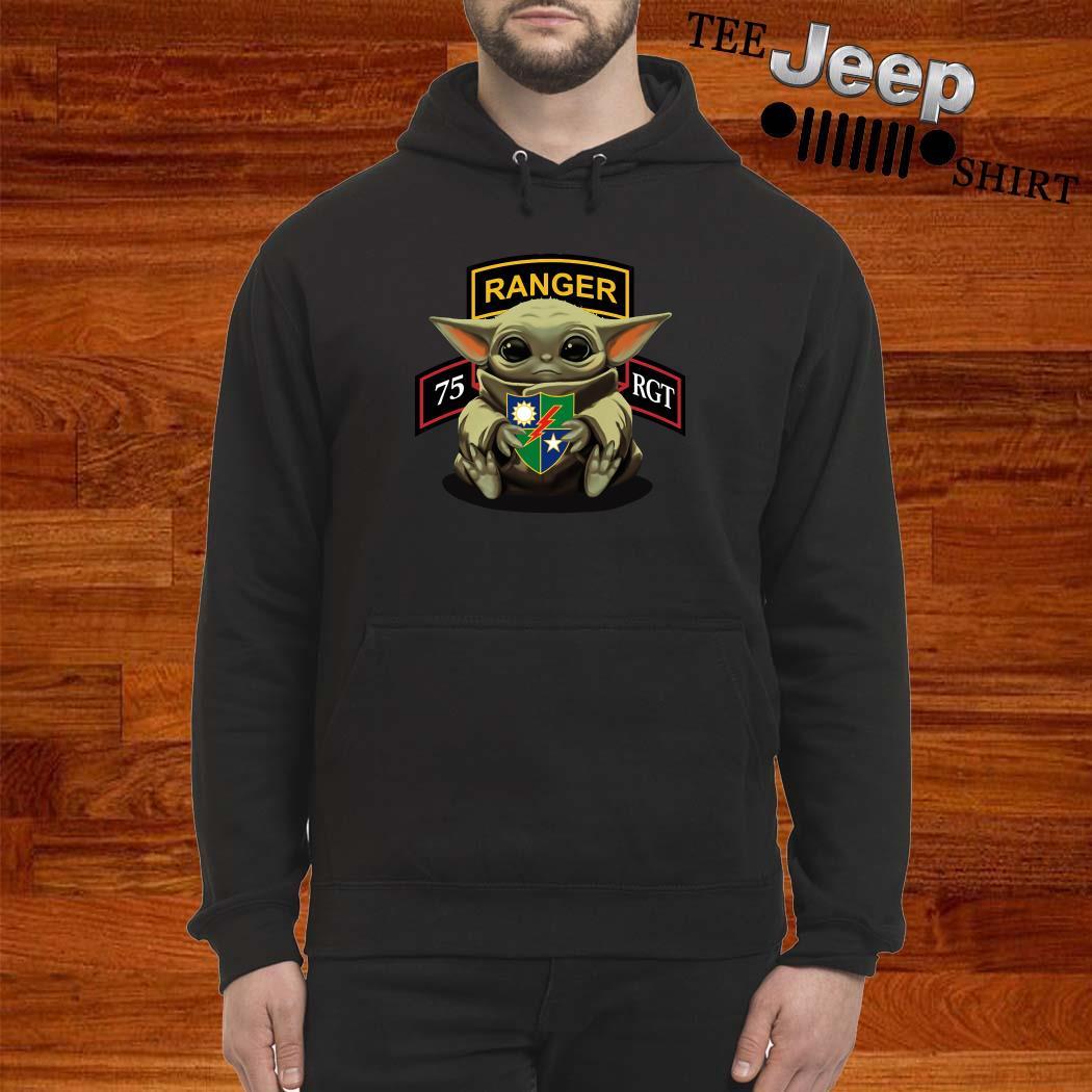 Baby Yoda Hug 75th Ranger Regiment Hoodie