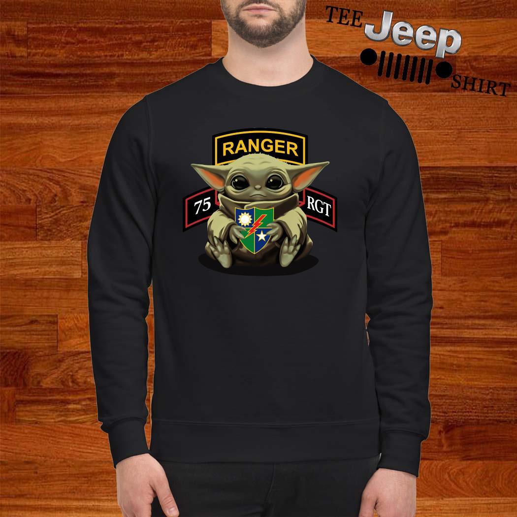 Baby Yoda Hug 75th Ranger Regiment Sweatshirt
