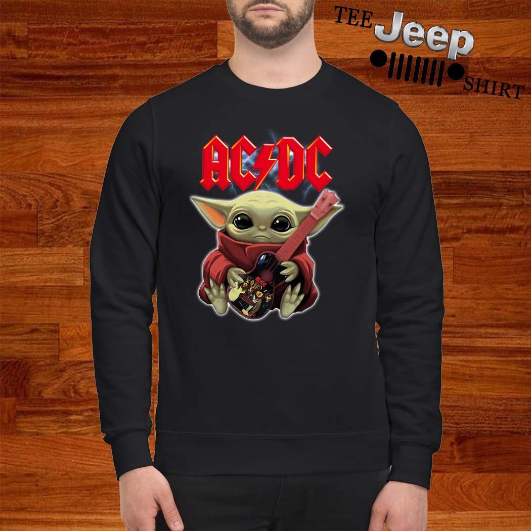 Baby Yoda Hug ACDC Guitar Sweatshirt