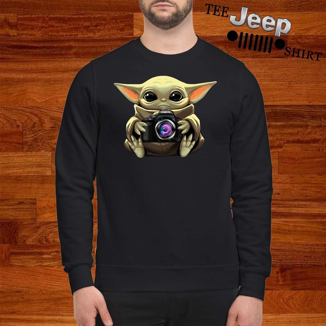 Baby Yoda Hug Camera Sweatshirt