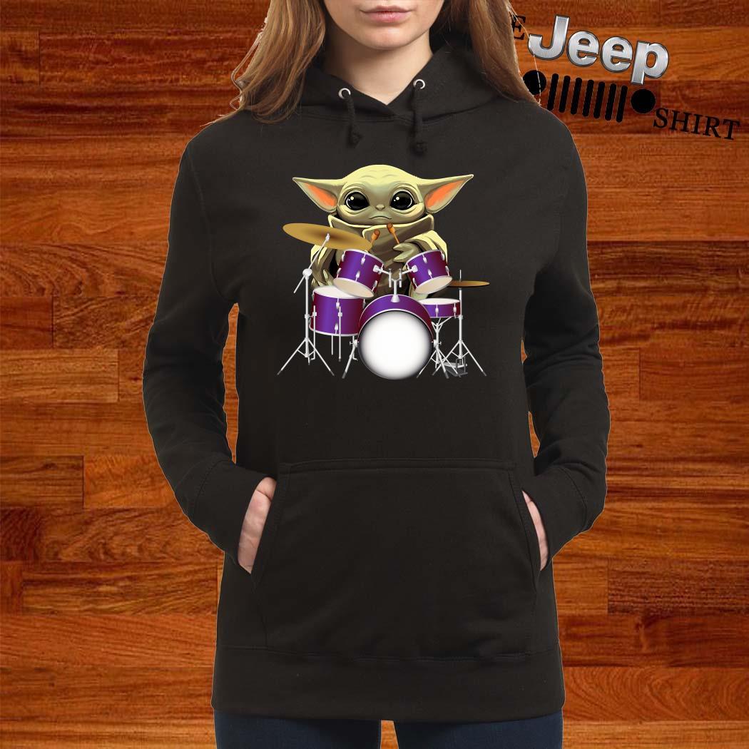 Baby Yoda Hug Drummers Hoodie