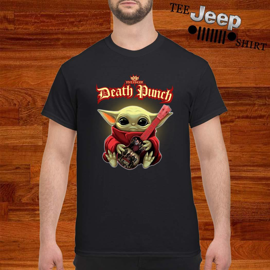 Baby Yoda Hug Five Finger Death Punch Guitar Shirt