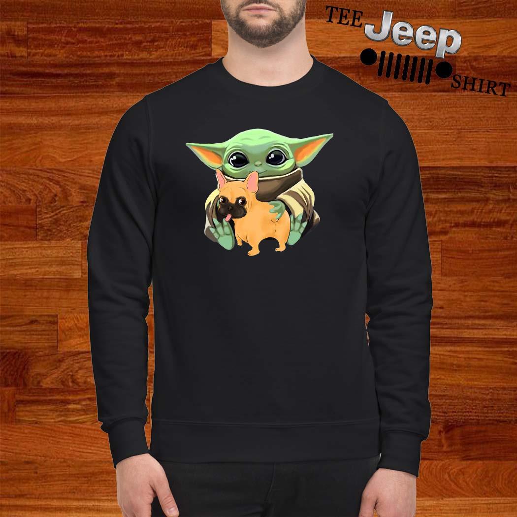 Baby Yoda Hug French Bulldog Sweatshirt