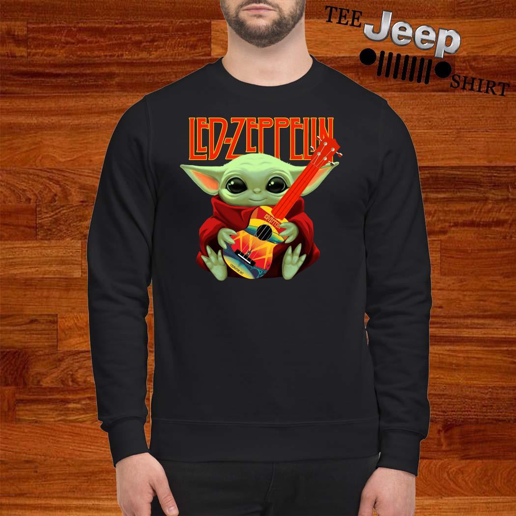 Baby Yoda Hug Led-zeppelin Guitar Sweatshirt