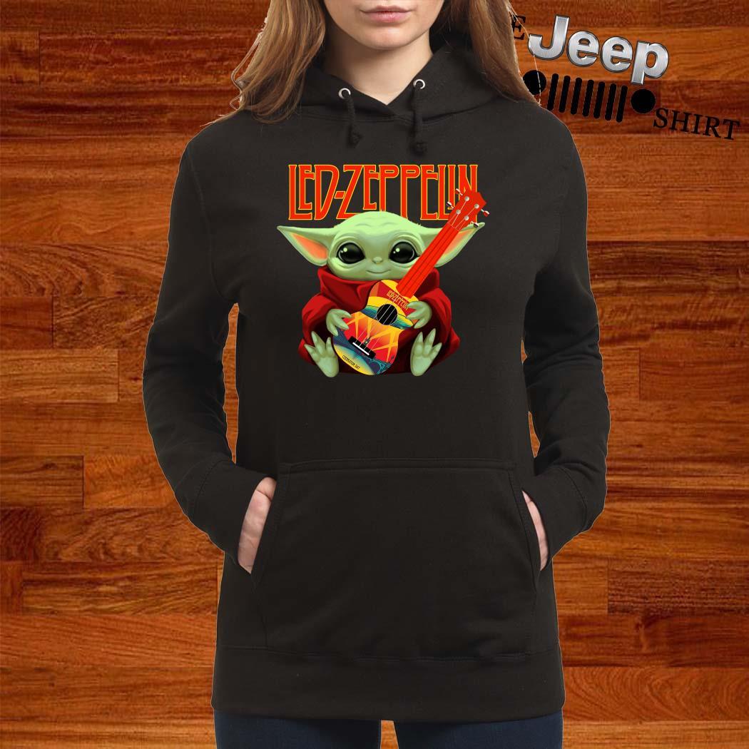 Baby Yoda Hug Led-zeppelin Guitar Hoodie