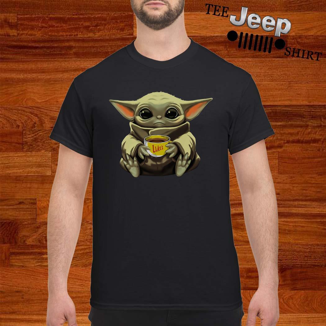 Baby Yoda Hug Luke's Coffee Shirt