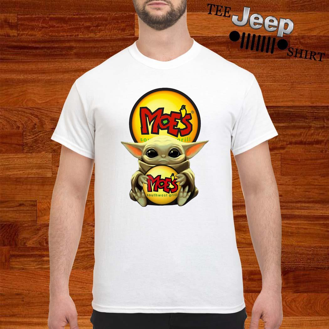 Baby Yoda Hug Moe's Southwest Grill Shirt