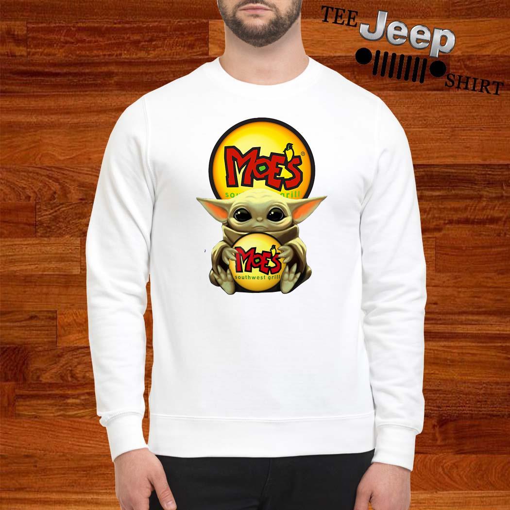 Baby Yoda Hug Moe's Southwest Grill Sweater
