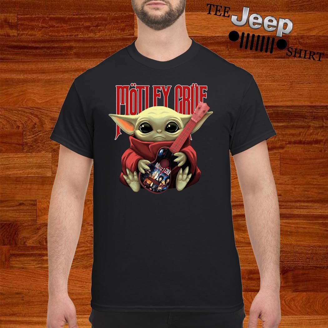 Baby Yoda Hug Motley Crue Shirt