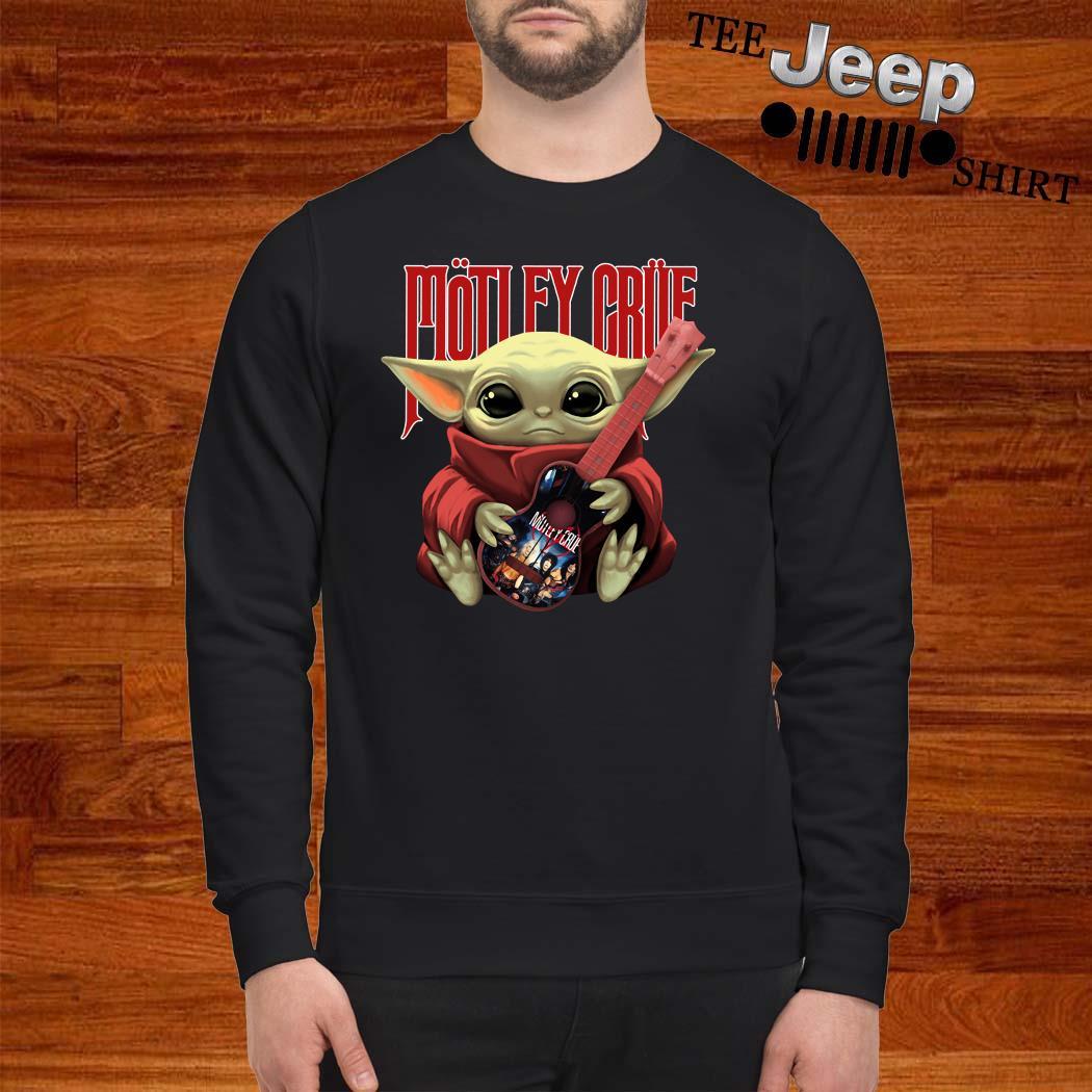 Baby Yoda Hug Motley Crue Sweatshirt