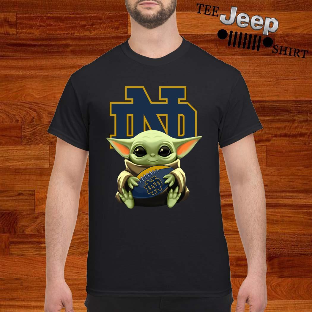 Baby Yoda Hug Notre Dame Shirt