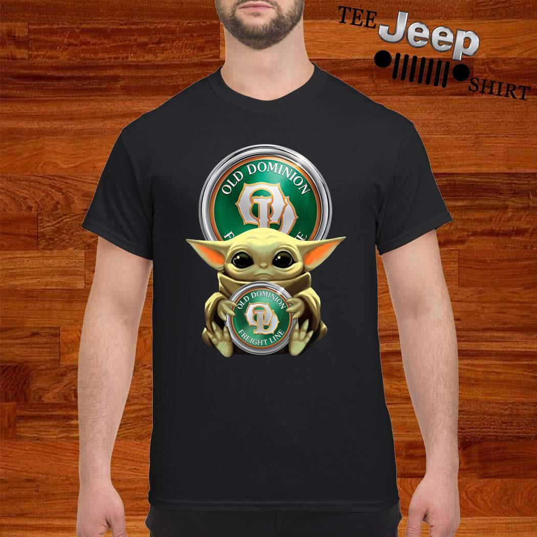 Baby Yoda Hug Old Dominion Freight Line Shirt