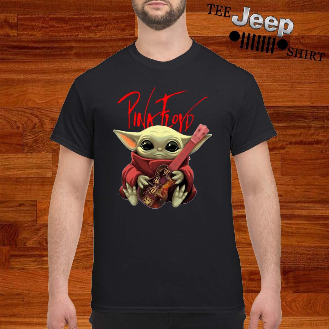 Baby Yoda Hug Pink Floyd Guitar Shirt