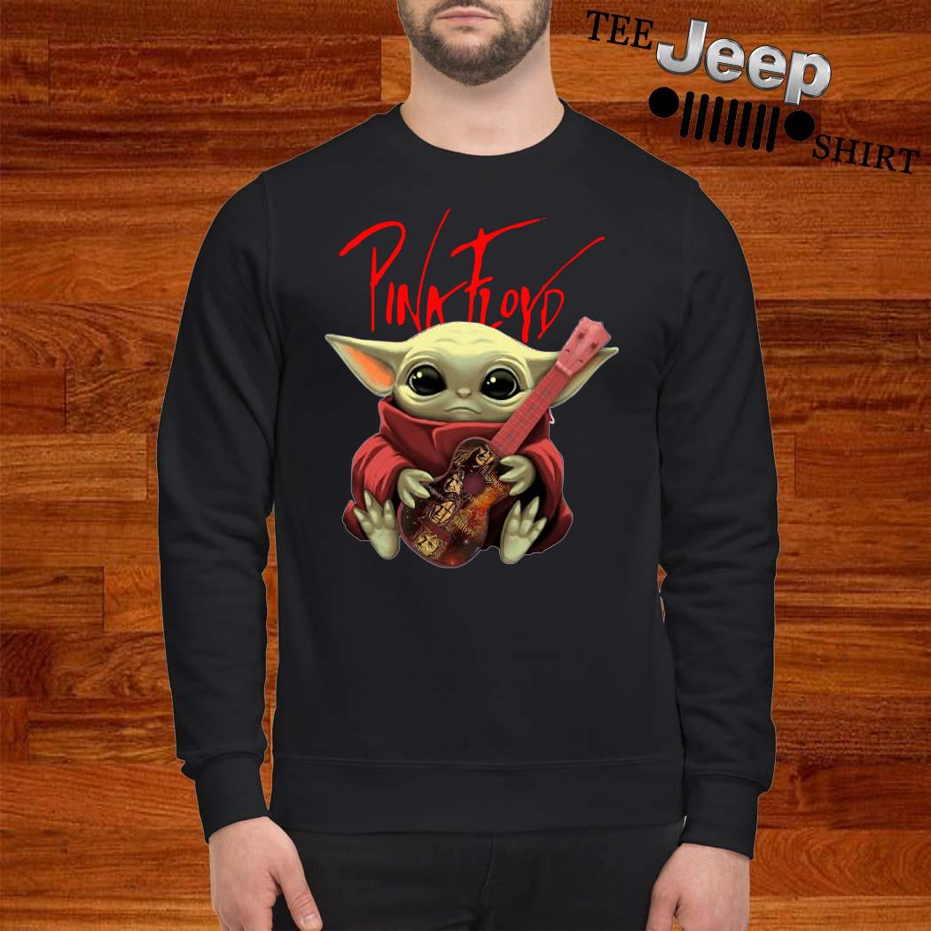 Baby Yoda Hug Pink Floyd Guitar Sweatshirt