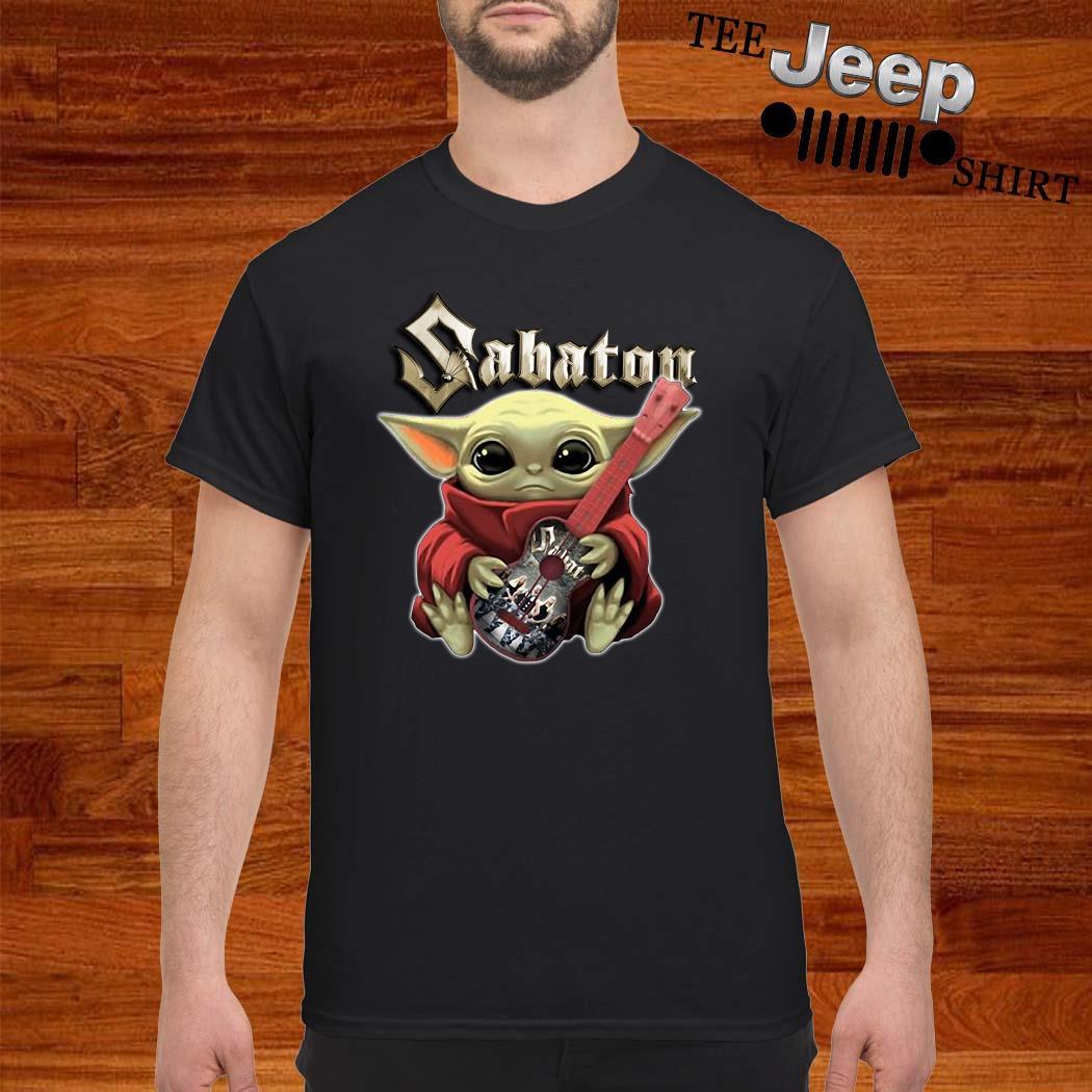 Baby Yoda Hug Sabaton Guitar Shirt