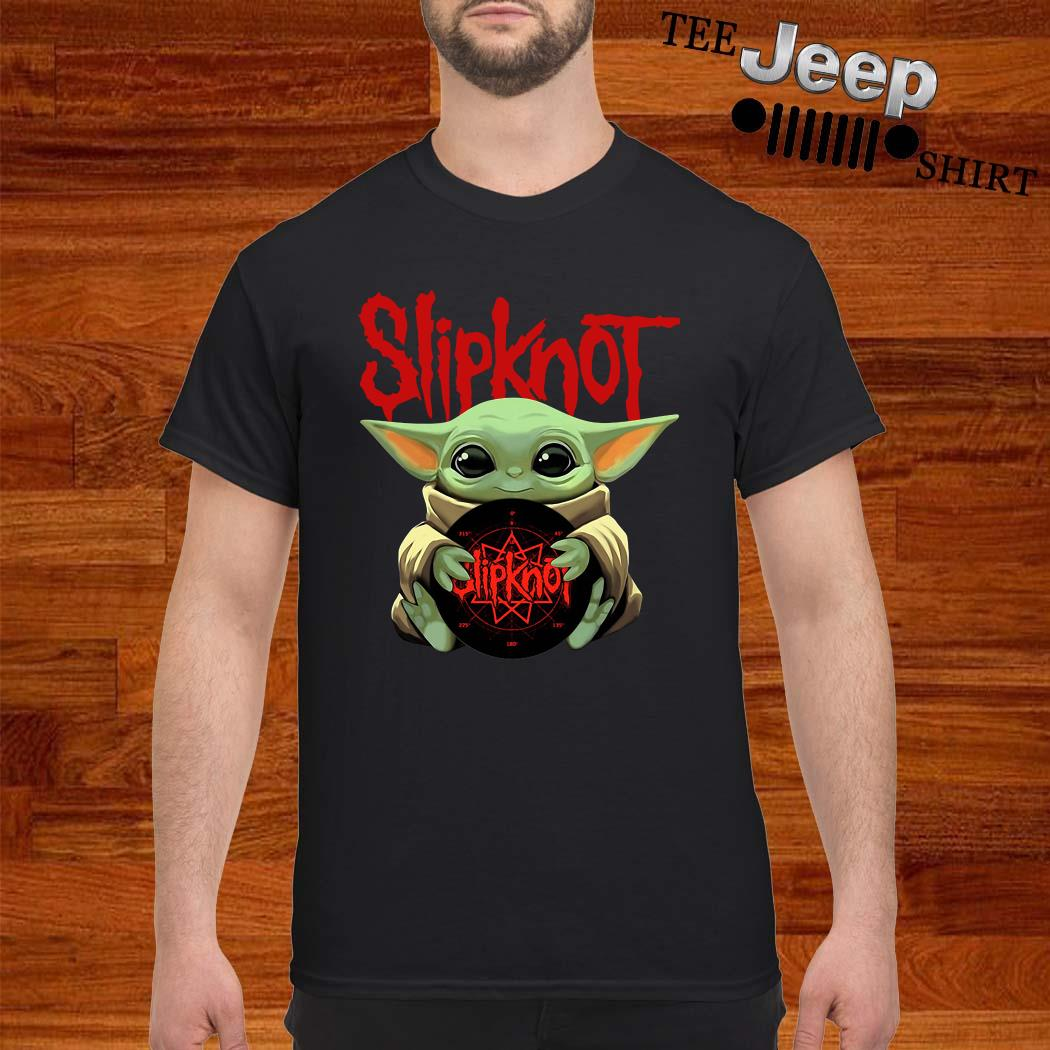 Baby Yoda Hug Slipknot Shirt