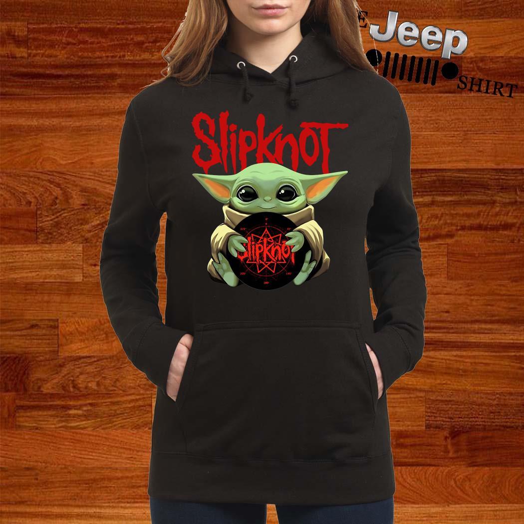 Baby Yoda Hug Slipknot Women Hoodie