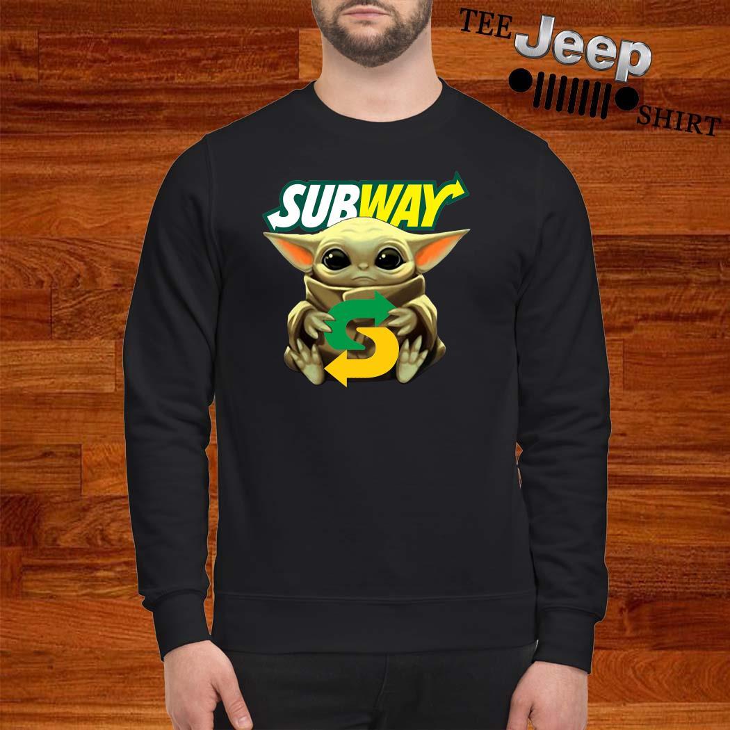 Baby Yoda Hug Subway Sweatshirt