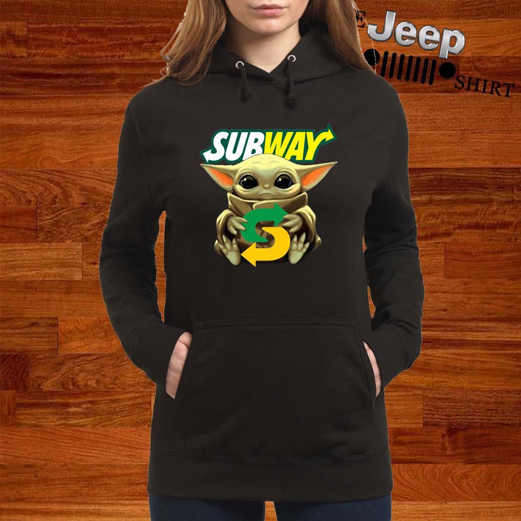 Baby Yoda Hug Subway Hoodie
