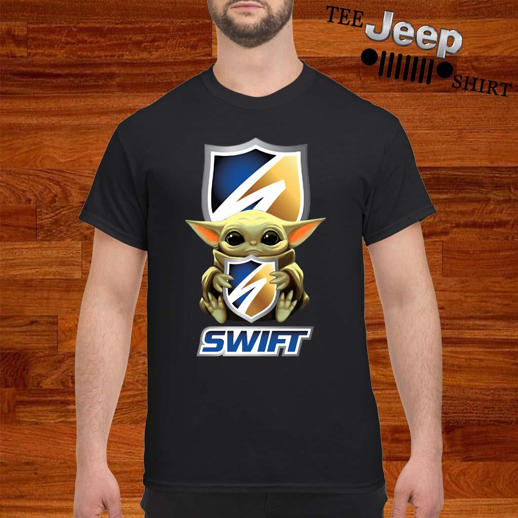 Baby Yoda Hug Swift Transportation Shirt