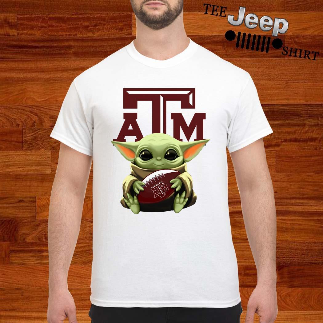 Baby Yoda Hug Texas A&M Aggies Shirt
