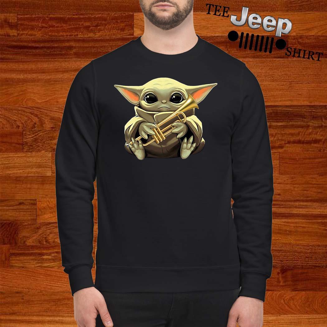 Baby Yoda Hug Trumpet Sweatshirt