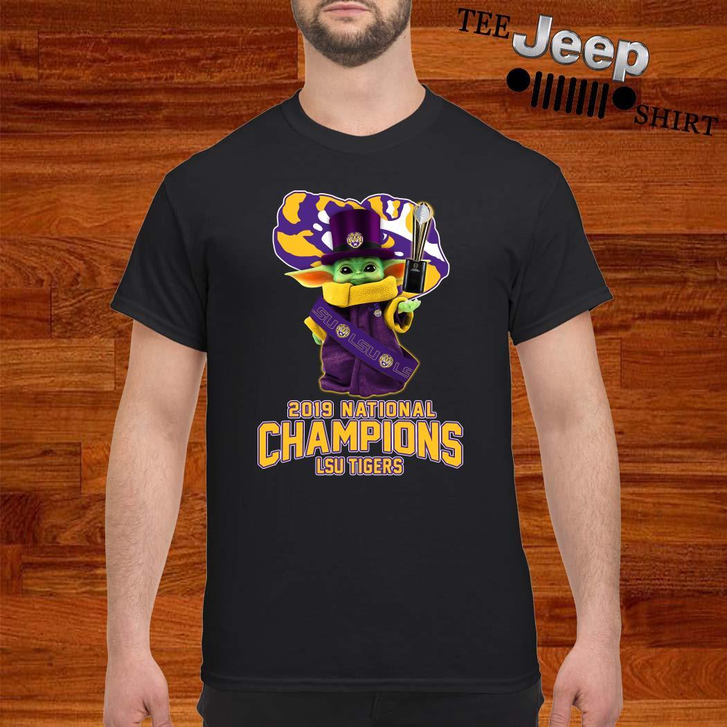 Baby Yoda LSU Tigers 2019 National Champions Shirt