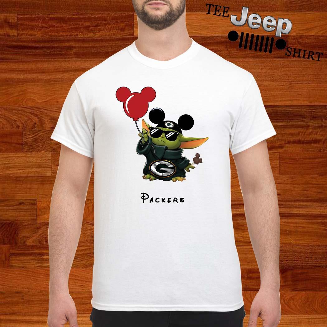 Baby Yoda Mickey Mouse Green Bay Packers Shirt