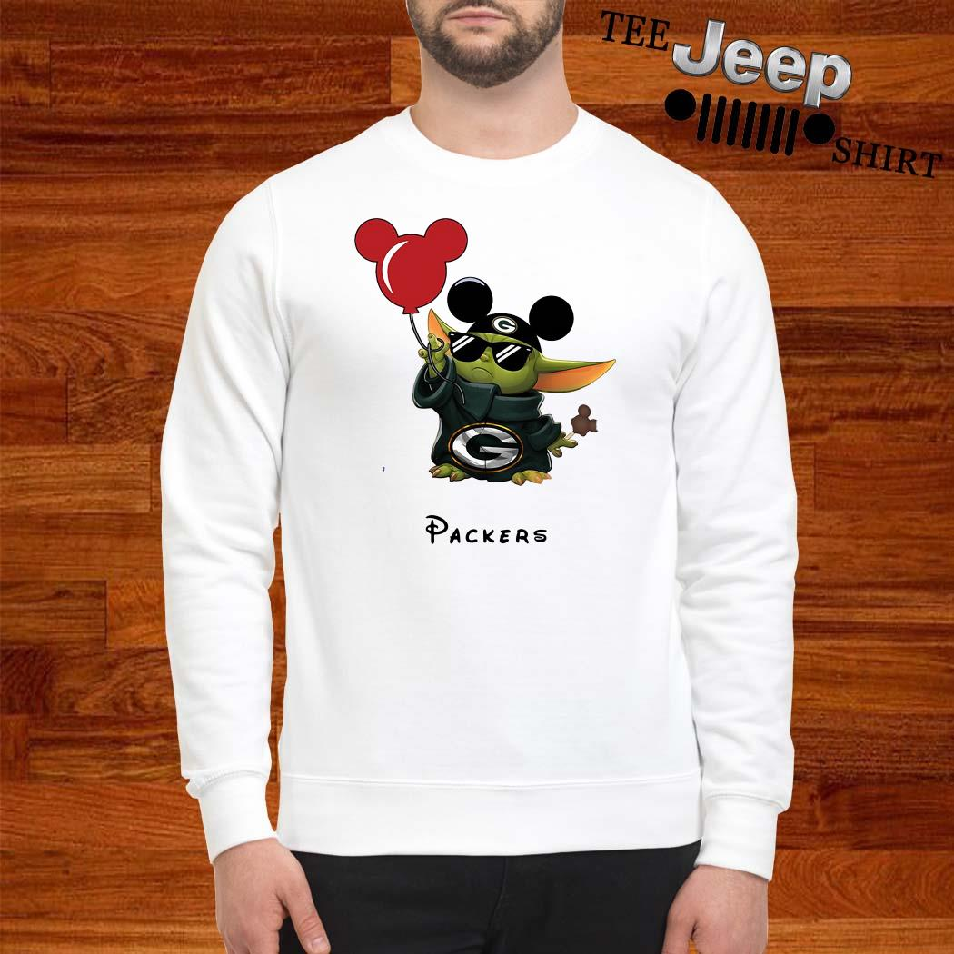 Baby Yoda Mickey Mouse Green Bay Packers Sweatshirt