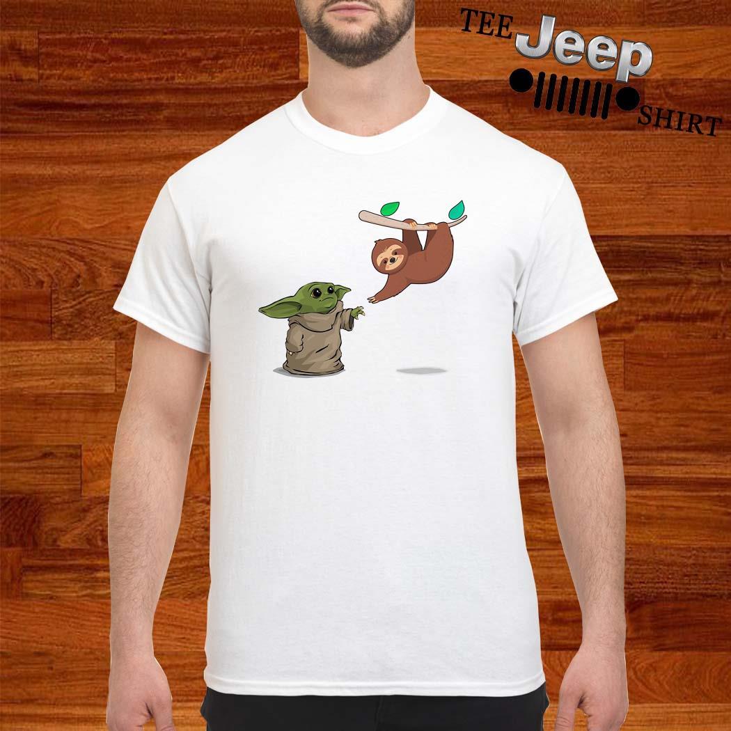 Baby Yoda And Sloth Shirt