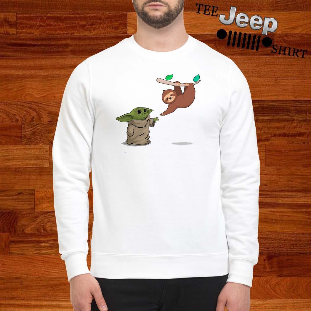 Baby Yoda And Sloth Sweatshirt