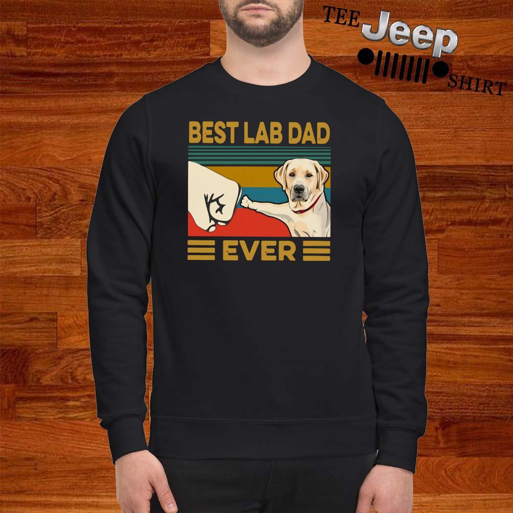 Best Lab Dad Ever Vintage Sweater