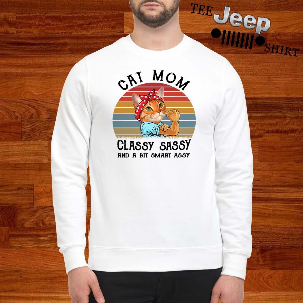 Cat Mom Classy Sassy And A Bit Smart Assy Vintage Sweatshirt