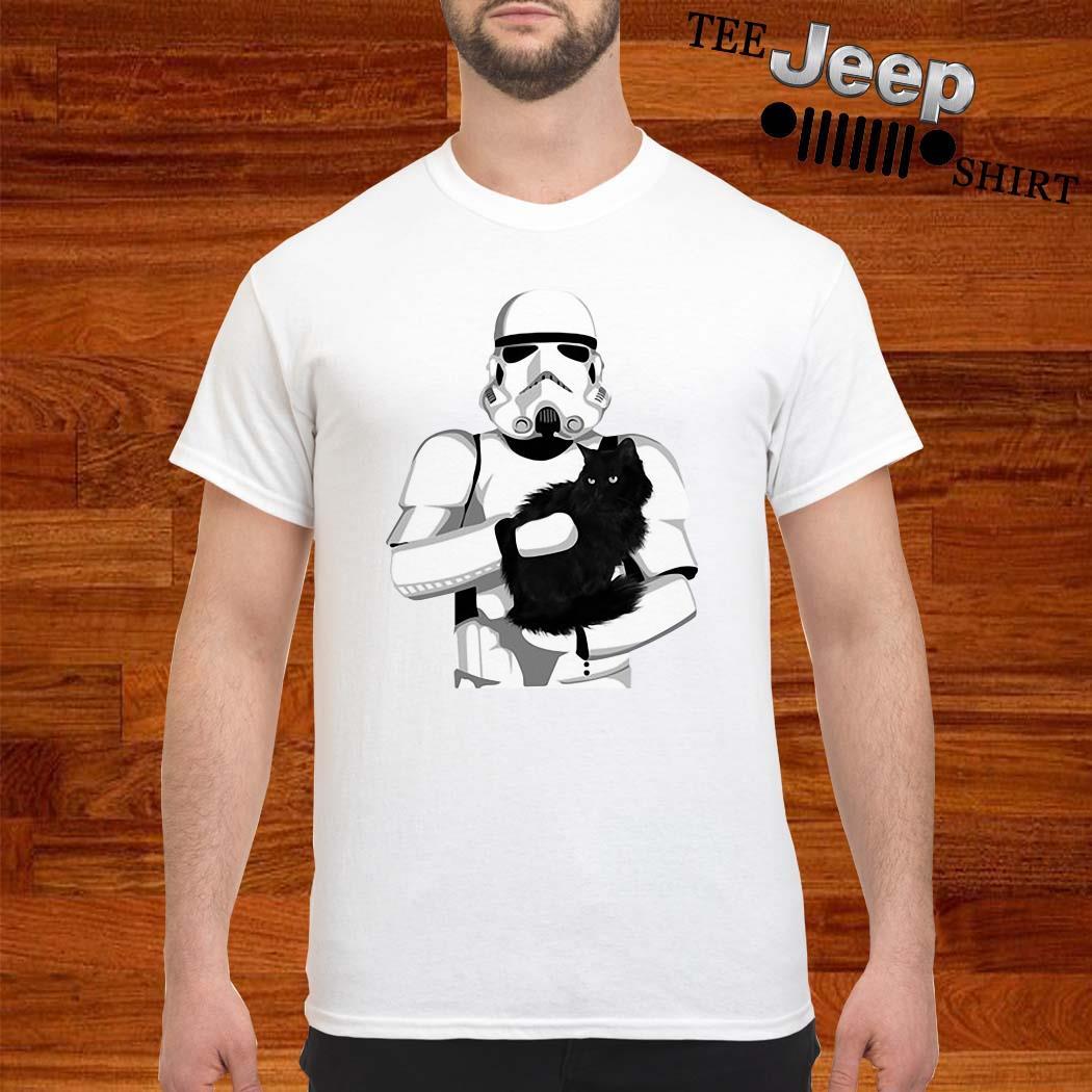 Darth Vader Hug Black Cat Shirt
