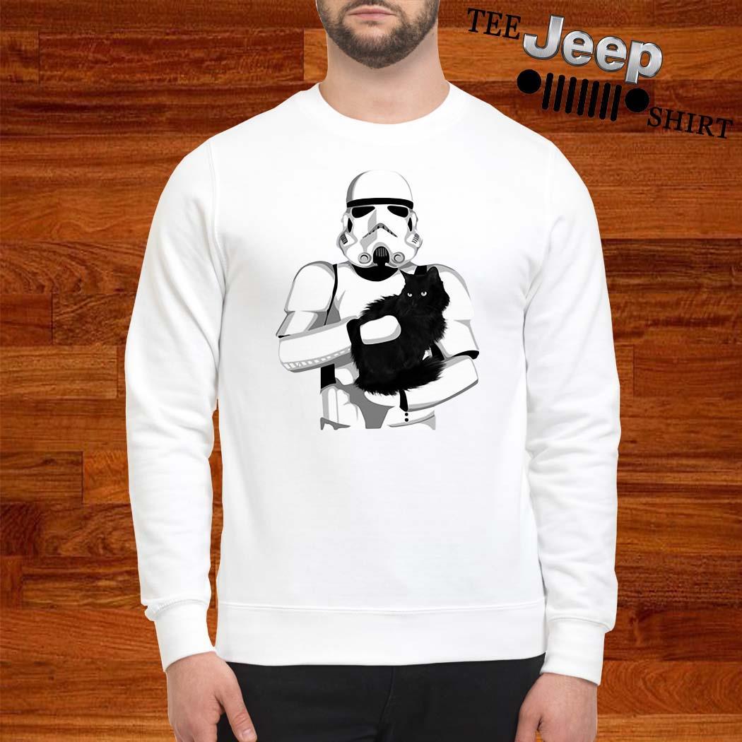 Darth Vader Hug Black Cat Sweatshirt