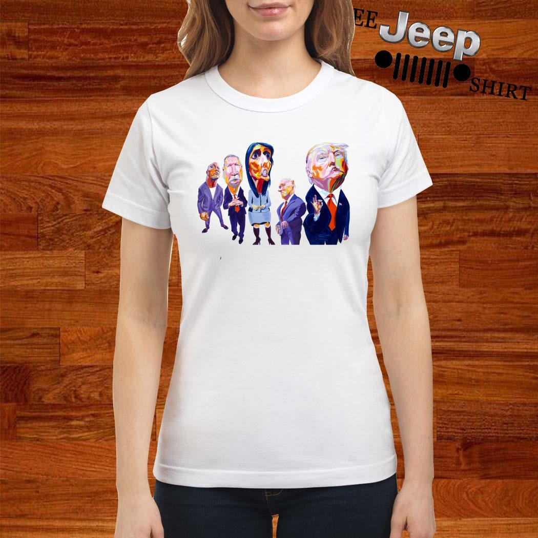 Donald Trump Dwayne Johnson John Kasich Nikki Haley Mike Pence Ladies Shirt